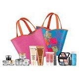 Lancome Paris 7 Pcs Travel Gift Set: Absolute Eye Premium + Color Design Sensational Effects