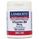Lamberts Vitamin B6 50mg 100 Tabs