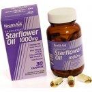 HealthAid Gamma Starflower Oil 1000mg (23% GLA) Capsules 60 Caps