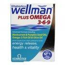 Vitabiotics Wellman Plus Omega 3.6.9 - 28 Tabs + 28 Caps