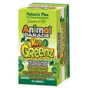 Natures Plus Animal Parade KidGreenz Children's Chewable with Whole Food Concentrates