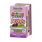 Natures Plus Animal Parade AcidophiKidz Children's Chewable with Whole Food Concentrates