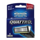 Wilkinson Sword Quattro Replacement Blades 4 Pack
