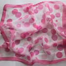 Gift 20&quot; Square Chiffon Neck head Scarf Wrap Polka Dots