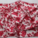 "Gift 21"" Neck Head Scarf Wrap Kerchief Red Flowers Fast Shipping"