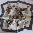 "Gift 35"" Silk like Scarf Wrap Bandana Kerchief Flowers"