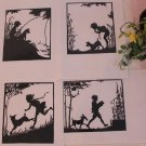 papercut paper-cuts silhouette art Childhood 4pcs