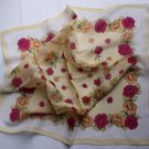 Beautiful Gift 22'' Chiffon Neck Head Scarf Wrap Floral Red Roses