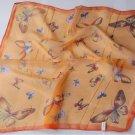 "Gift 20"" Chiffon Neck Head Scarf Wrap Butterfly Orange"