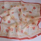 "24"" Square Neck Head Scarf Wrap Mahogany Lovely Flowers"