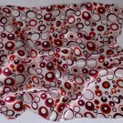 """Gift 20"""" Square Neck head Scarf Wrap Red Brown Circles"""