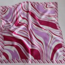 "Gift 20"" Square Neck head Scarf Wrap Pink Red White Stripes"