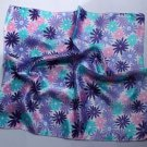 Gift 20&quot; Square Neck head Scarf Wrap Pink Blue Flowers