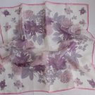 "Gift 24"" Chiffon Neck Head Scarf Wrap Flowers Lilac - must read details"