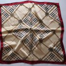 "Gift 20"" Square Neck Head Scarf Wrap Checkered Stripes"