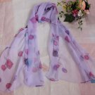 Gift Silk Chiffon Oblong Scarf Purple Candy Fast Shipping