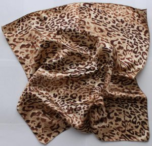 "Gift 20"" Neck Head Scarf Wrap Leopard Spots - must read details"