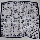 Gift 20&quot; Neck Head Scarf Wrap blue Squares