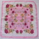 "Gift 24"" Neck head Scarf Wrap Kerchief Rose Red Flowers - must read details"