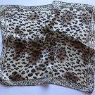 "20"" Neck Head Scarf Wrap Leopard Spots with defects- must read description"
