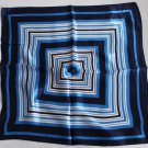 "Gift 20"" Neck head Scarf Wrap Blue Checkered stripes + defects"