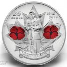 Uncirculated 25-Cent Canadian Poppy Coin (2010) MINT gift