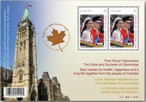 Sold Out: Royal Wedding Day Souvenir sheet of 2 stamps (Parliament)