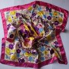 """23"""" silk like Scarf Wrap Shawl Floral Bandana Kerchief"""