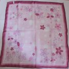 """Gift 24"""" Chiffon Scarf Wrap Red Pink Lilac Flowers - must read details"""