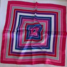 "Gift 20"" Neck Head Scarf Wrap Squares Red Blue Purple"