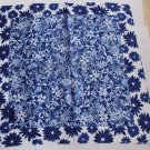 Gift 21&quot; Neck Head Scarf Wrap Kerchief Blue Flowers Fast Shipping