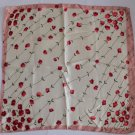 "Gift 20"" Womens Square Neck head Scarf Wrap Red Flowers"