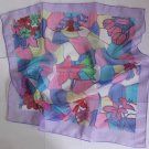"Gift 24"" chiffon Silk Neck Head Scarf Wrap Violet Pink"