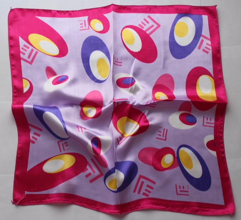"Gift 20"" Scarf Wrap Kerchief Bandanna Purple Red Border"