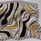 "20"" Neck head Scarf Wrap Bandana Brown White Stripes"