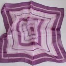 "Gift 20"" Neck Head Scarf Wrap Checkered Stripes Violet with defects- must read details"