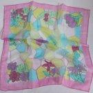 "Gift 24"" chiffon Silk Neck Head Scarf Wrap Flowers Pink"