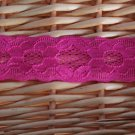 "1.2"" elastic Stretch Lace Trim, 2 pc, 1.1 yds per piece, 2.2 yds in total, fast shipping"