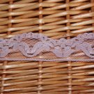 "1.1 Yds 1.3"" Lace Trim DIY Net Floral Pink Gift Fast Shipping"