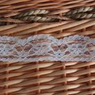 "1.1 Yds 1.4"" White Lace Trim DIY Net Floral Snow White Gift"
