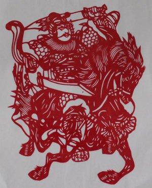 papercut paper-cuts papercutting art RomanceOf3Kingdoms-if buy 10  pcs free ship must read details