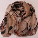 Gift  Oblong  Scarf Shawl Wrap fashion Severe color deviation wheat color