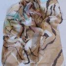 Gift Silk Chiffon Oblong Scarf -- Stripes