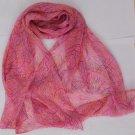 Gift Silk Chiffon Oblong Scarf  Pink