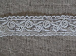 """Beautiful Embroidered Rose Lace Trim 1.1"""" Wide 1 Yd DIY Fabric Gift"""