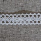 "1 Yard 0.5"" White Cotton Lace Trim Crocheted Delicate Crafting Clothing Bracelets Hair Fabric"