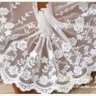 Fabulous Lace Trim Embroidered Flowers on Mesh 0.6 yd long Fast Shipping