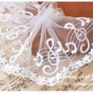 Fabulous Lace Trim Embroidered Music Notes and Flowers on Mesh 1.2 yds Fast Shipping