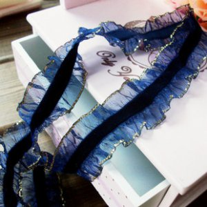 """Stretch Elastic Lace Trim 0.98""""  wide 1.1 yds Fast Shipping"""