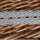 "Beautiful Crocheted  Cotton Lace Trim 2.5  yds long 1.2"" wide Fast Shipping"